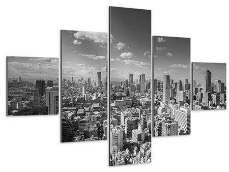 Aluminiumbild 5-teilig Tokio