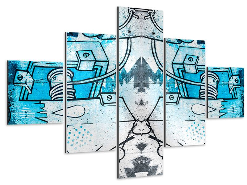 Aluminiumbild 5-teilig Graffiti