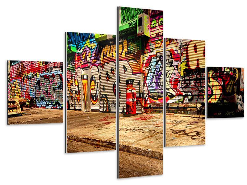 Aluminiumbild 5-teilig NY Graffiti