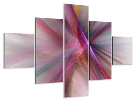 Aluminiumbild 5-teilig Abstraktes Lichterleuchten