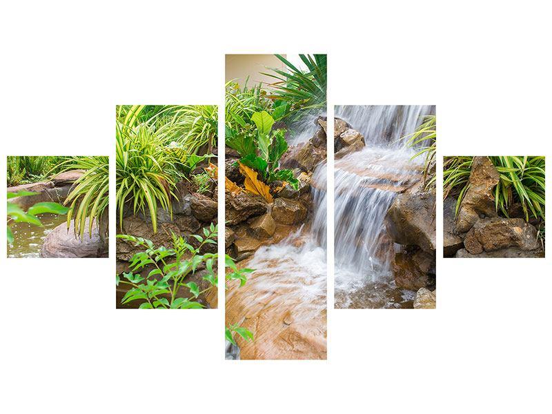 Aluminiumbild 5-teilig Paradiesgarten