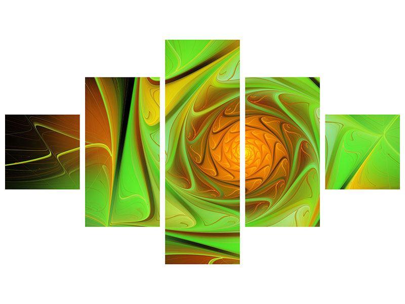 Aluminiumbild 5-teilig Abstraktionen