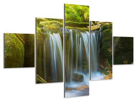 Aluminiumbild 5-teilig Schönheit des fallenden Wassers