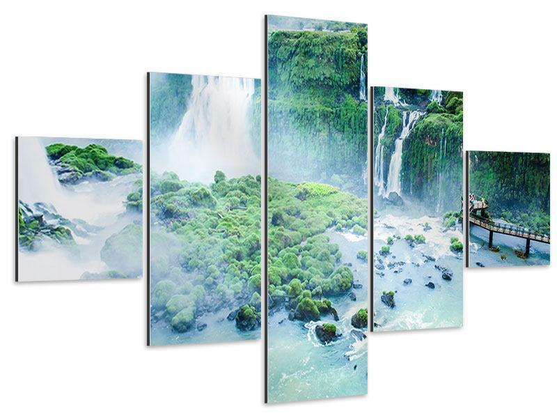 Aluminiumbild 5-teilig Wasserfälle