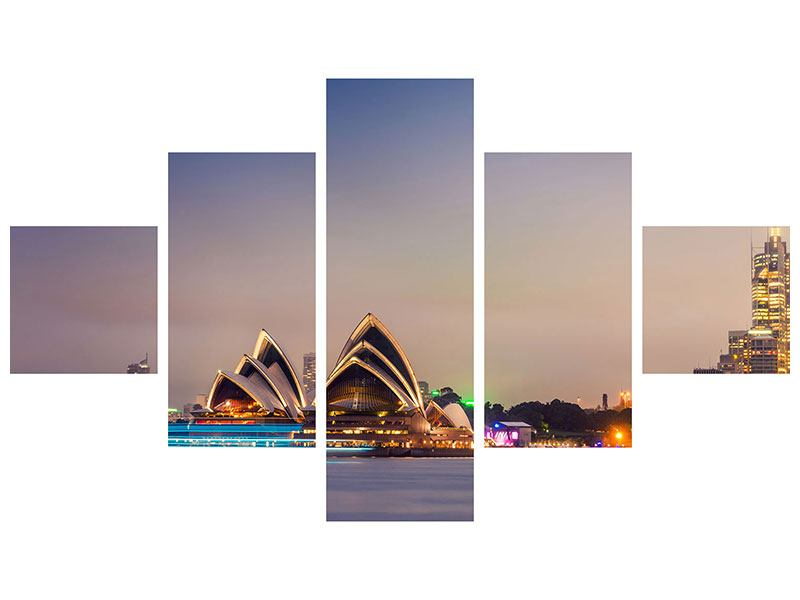 Aluminiumbild 5-teilig Opera House