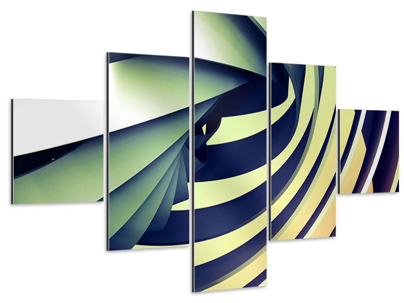 Aluminiumbild 5-teilig Abstrakte Perspektiven