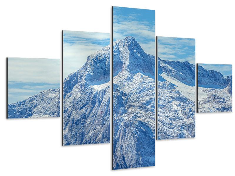 Aluminiumbild 5-teilig Friedliche Bergstimmung