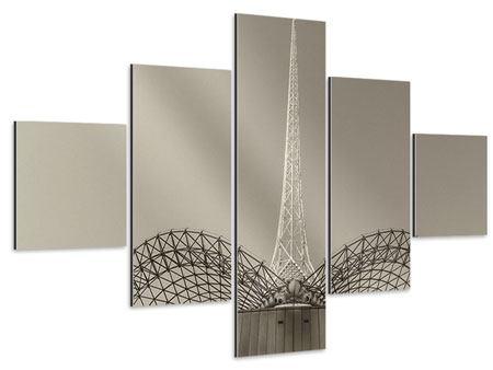 Aluminiumbild 5-teilig Close Up Wolkenkratzer