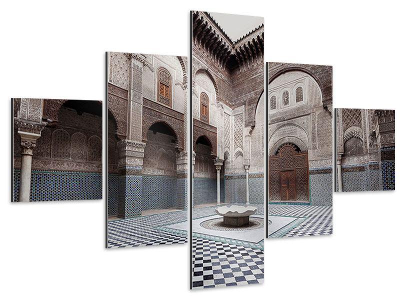 Aluminiumbild 5-teilig Orientalischer Hinterhof