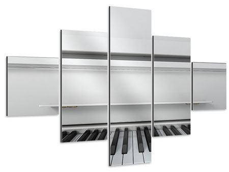 Aluminiumbild 5-teilig Weisser Flügel