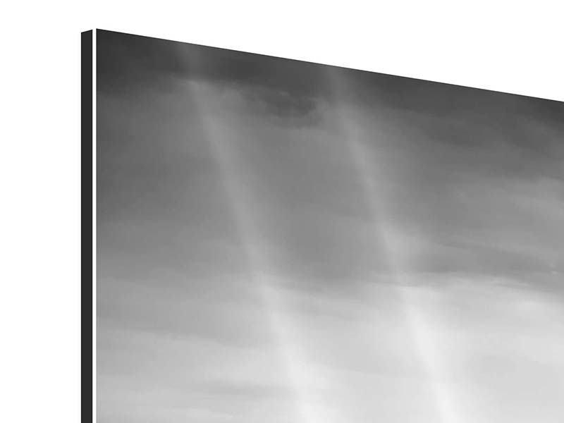 Aluminiumbild 5-teilig Skyline Schwarzweissfotografie New York