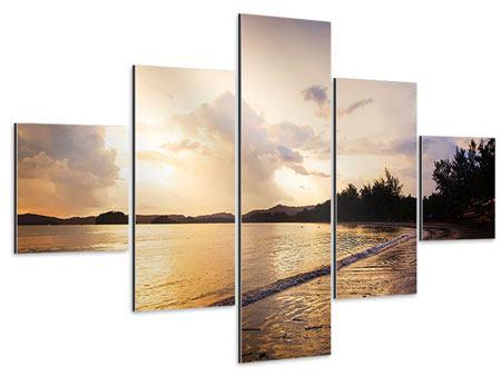 Aluminiumbild 5-teilig Das Ufer