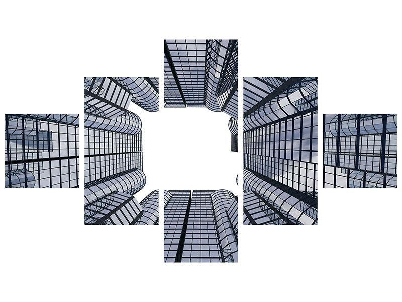 Aluminiumbild 5-teilig Besondere Perspektive