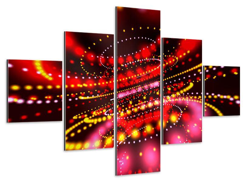 Aluminiumbild 5-teilig Abstraktes Lichtspiel