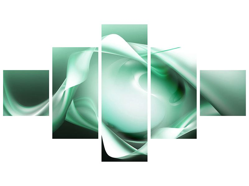 Aluminiumbild 5-teilig Abstrakt Tuchfühlung