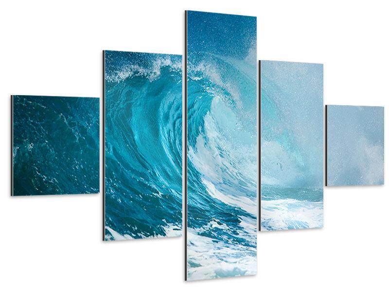 Aluminiumbild 5-teilig Die perfekte Welle