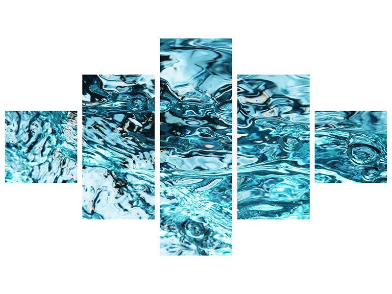 Aluminiumbild 5-teilig Schönheit Wasser