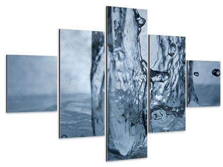 Aluminiumbild 5-teilig Wasserdynamik