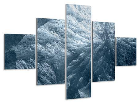 Aluminiumbild 5-teilig Eis