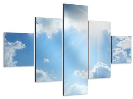 Aluminiumbild 5-teilig Himmelshoffnung