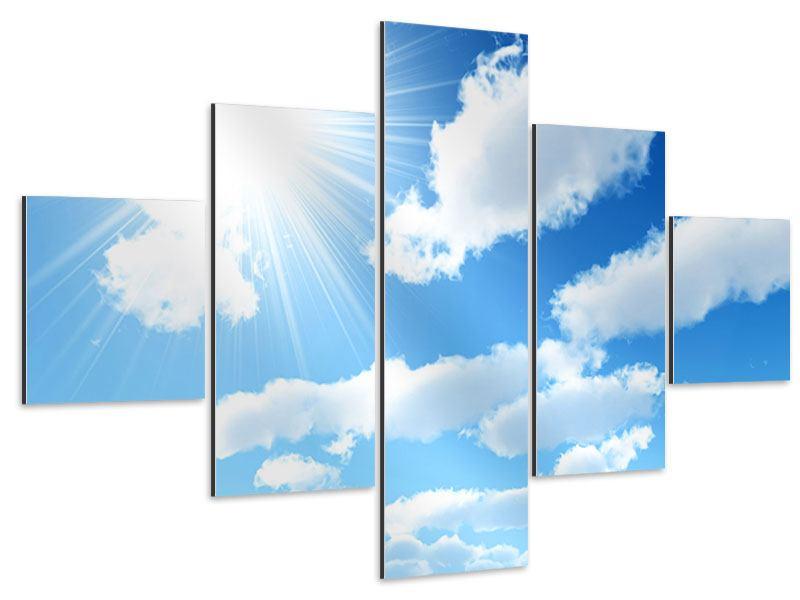 Aluminiumbild 5-teilig Am Himmel