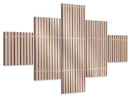 Aluminiumbild 5-teilig Lucky Bamboo