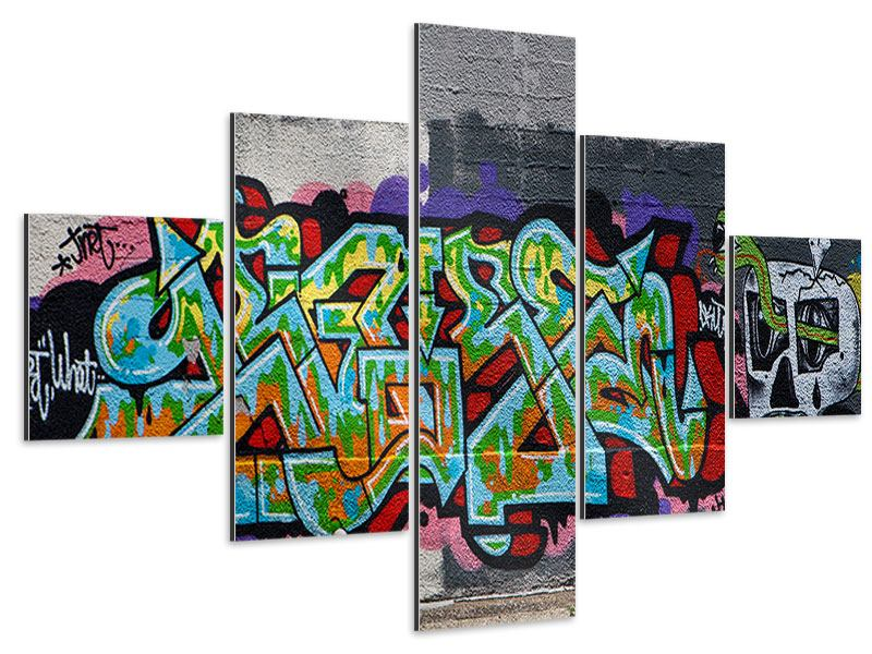 Aluminiumbild 5-teilig Graffiti in New York