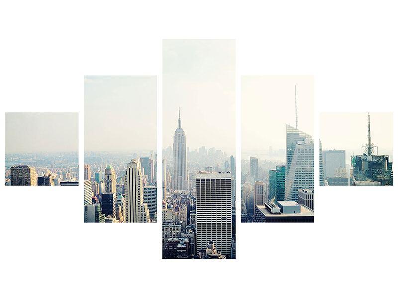 Aluminiumbild 5-teilig NYC