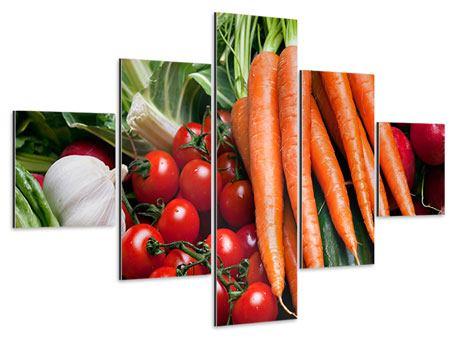 Aluminiumbild 5-teilig Gemüse