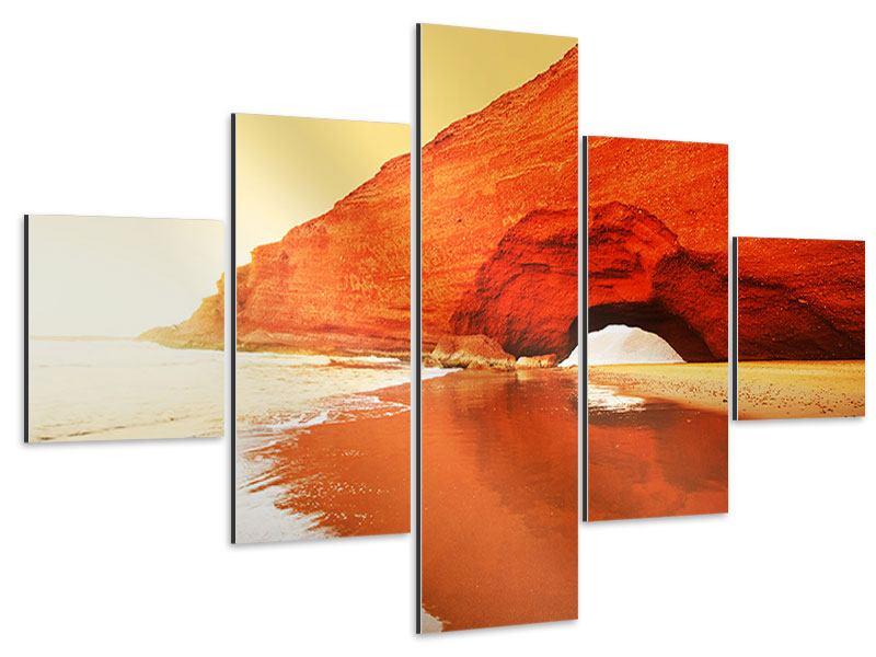 Aluminiumbild 5-teilig Wasserspiegelung