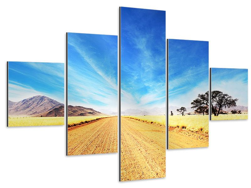 Aluminiumbild 5-teilig Eine Landschaft in Afrika