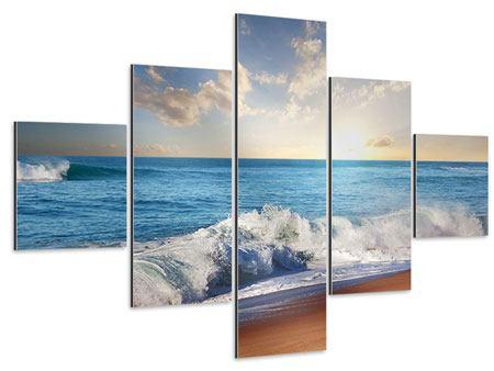 Aluminiumbild 5-teilig Die Wellen des Meeres