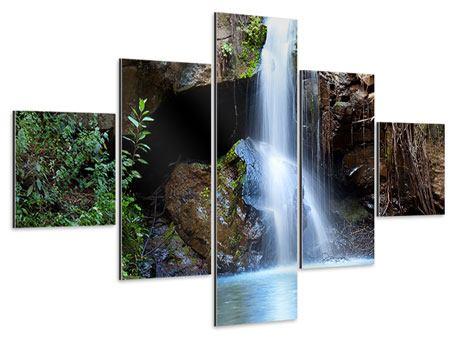 Aluminiumbild 5-teilig Die blaue Lagune