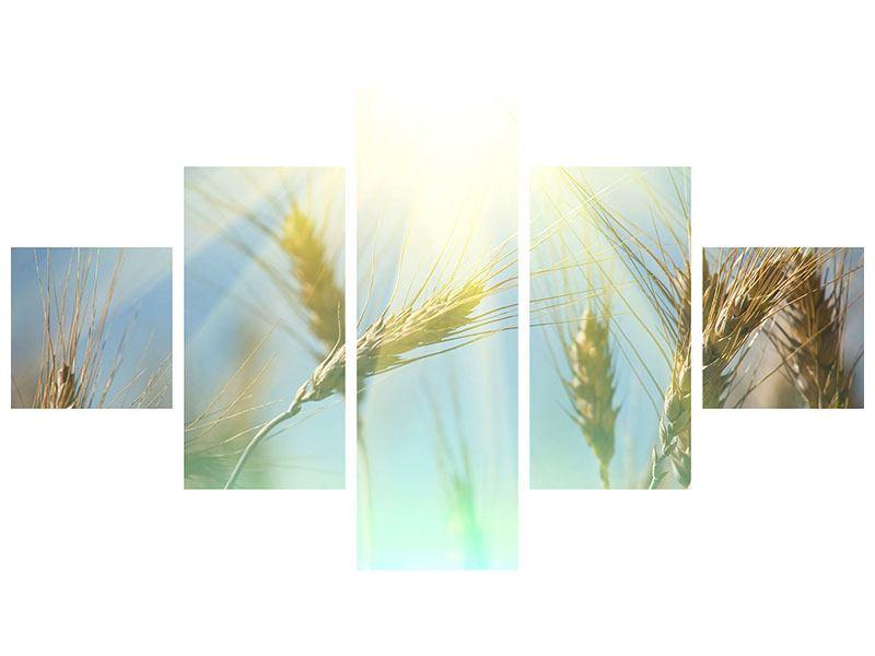 Aluminiumbild 5-teilig König des Getreides