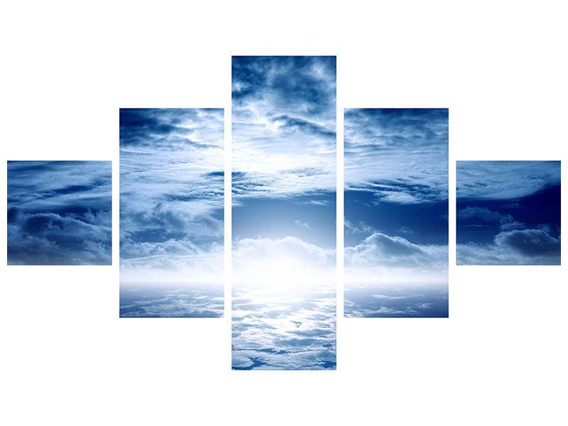 Aluminiumbild 5-teilig Mystischer Himmel