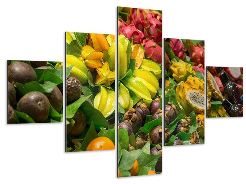 Aluminiumbild 5-teilig Früchte