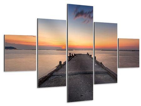 Aluminiumbild 5-teilig Der Steg