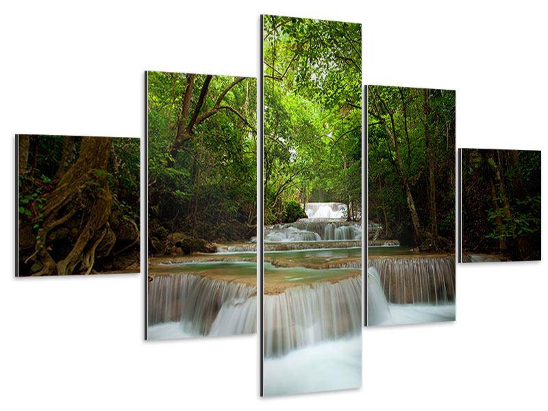 Aluminiumbild 5-teilig Die 7 Stufen