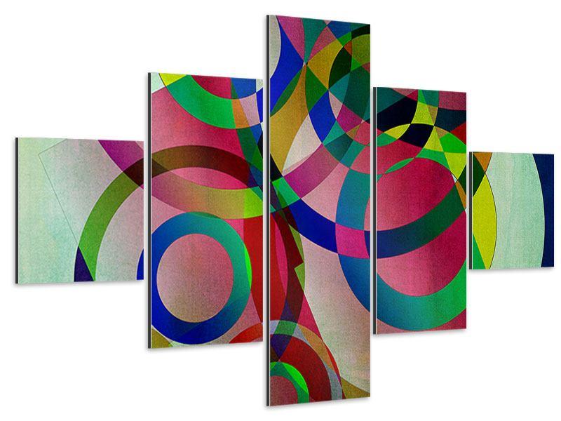 Aluminiumbild 5-teilig Wandkunst