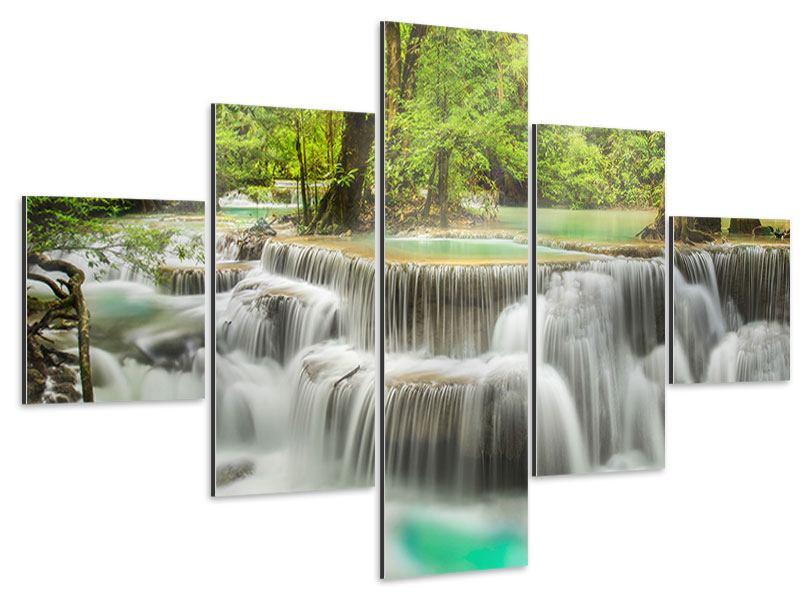 Aluminiumbild 5-teilig Erawan