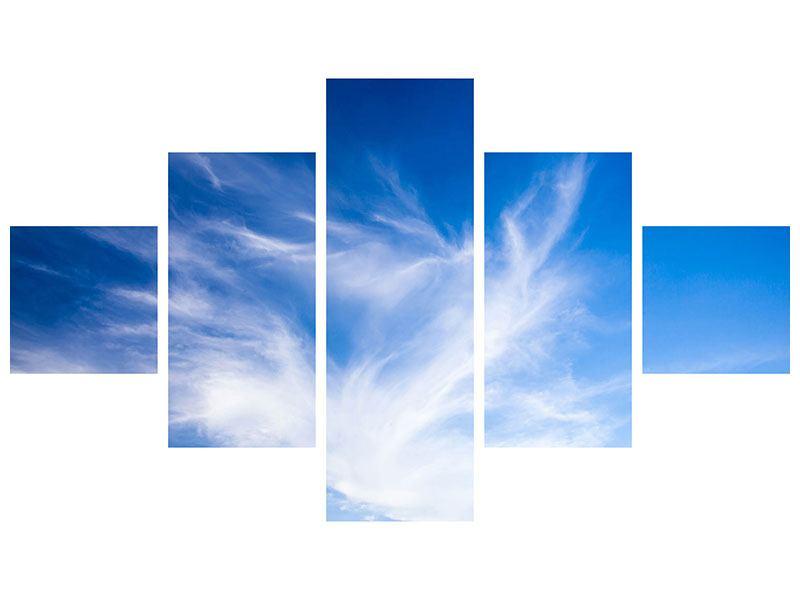 Aluminiumbild 5-teilig Schleierwolken