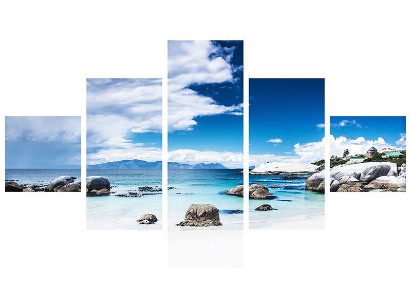 Aluminiumbild 5-teilig Inselfeeling