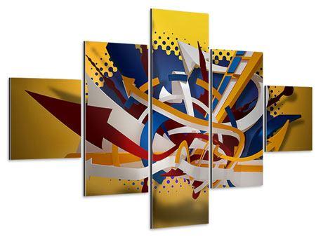 Aluminiumbild 5-teilig Graffiti Art