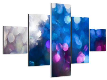 Aluminiumbild 5-teilig Abstraktes Licht