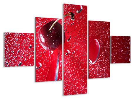 Aluminiumbild 5-teilig Die Kirsche