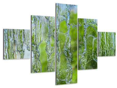 Aluminiumbild 5-teilig Hinter dem Wasserfall