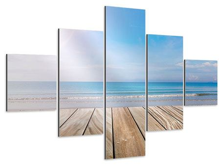 Aluminiumbild 5-teilig Das schöne Strandhaus