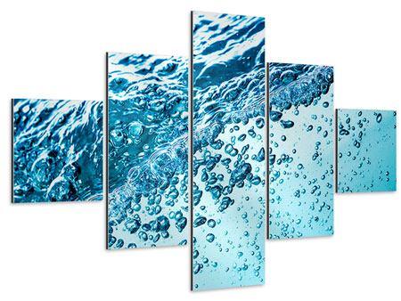 Aluminiumbild 5-teilig Wasser in Bewegung