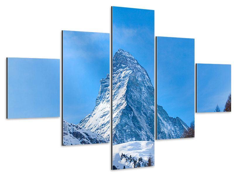 Aluminiumbild 5-teilig Das majestätische Matterhorn