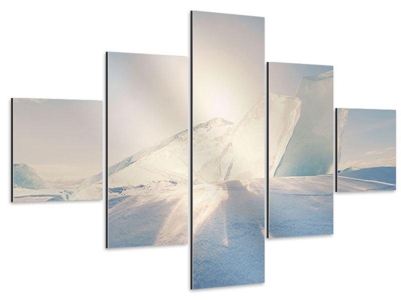 Aluminiumbild 5-teilig Eislandschaft